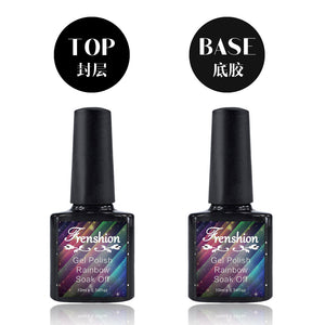 RAINBOW Nail Polish Gel for Top Coat or Base Coat Long Lasting