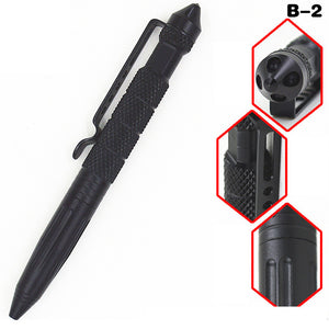 Aluminum Tactical Pens Glass Breaker EDC Self Defense Tactical Survival Pen Multi-function Camping Tool