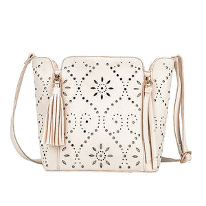 Flower Hollow Out Shoulder Bag Ladies Bucket Bag
