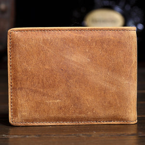 Retro Matte Skin Men Wallets Leather Buckle Male Wallet