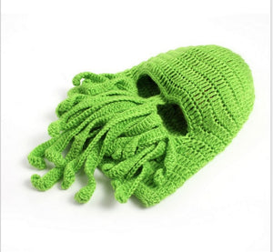OCTOPUS Face Cover Knitting Sweater Fun Hats for Men