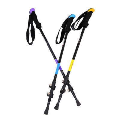 Alpenstock Ultra-light Rubber Adjustable Cane Walking Sticks Trekking Pole Outdoor Hiking Climbing Fitness Aids Trekking