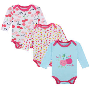 Cute Fruits Cotton Long-sleeved Onesies