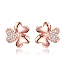 Zircon Cameo Hearts Flower Earrings for Women (1 pair)