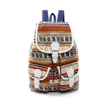 Printed Pattern Canvas Bag Students Backpack Men and Women Schoolbag