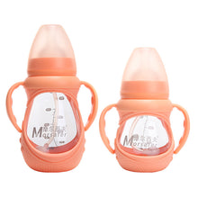 Brand Baby Bottle PPSU Feeding Bottle with Silicone Nipple Handle Dust-Cover Baby Feeding Bottle with Handle Automatic