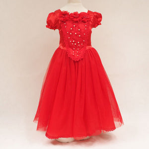 Red and Blue Princess Skirt Frozen Dress shawl Two-piece Suit