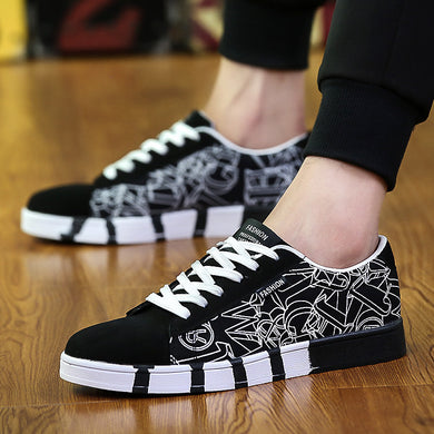 Leisure Korean Fashion Canvas Shoes Fashion Sport Shoes Students Running Men's Shoes