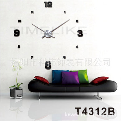 New Arrival 3D Home Decor Quartz DIY Wall Clock with Youngtown Movement Metal Acrylic Mirror 20 inch