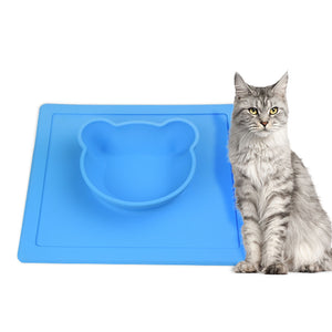 Silica Gel Plate A Bowl Of Pet Food Dish Cat Food Dog Bowl Environmental Protection Anti-Skid And Water-Proof