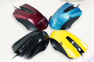 Wired Mouse Desktop Computer USB Mouse Home Office Silent Mute Mouse 4 Colors