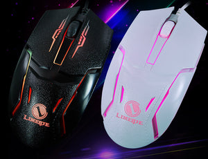 Home Office Gaming Mouse Backlight Gaming Computer USB Wired Mouse Universal Mute