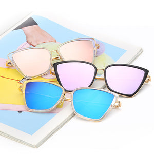 Butterfly Shape Metal Frames Off Color Lenses Sunglasses for Women