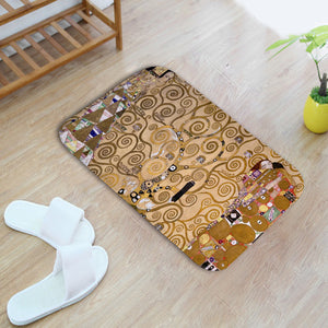 European Art Flannel Doormat Soft Bath Mats Entrance Door Anti-Slip Rugs Floor Mats