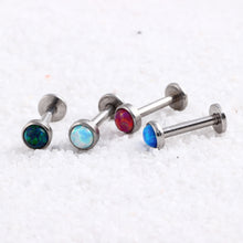 SWANJO 16G 316L Surgical Steel Opal Labret Lip Stud Rings Sexy Stone Style Lip Stud Fashion Earrings Monroe Pircing Body Jewelry