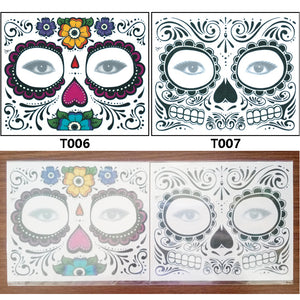 Body Art Stickers Removable Waterproof Temporary Tattoos Costume Matching (1 sheet)