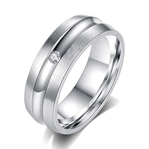 Titanium Rings for Couples 316L Stainless Steel Rings Dull Polish Engagement Wedding Ring Lover Rings