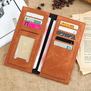 Korean Version Canvas PU Wallet Student Fashionable Ultra Thin Multi-Function Long Money Clip Spot Wholesale