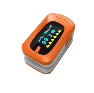 Pulse Oximeter Fingertip Oxygen Finger Monitor Blood Spo2 Saturation Levels Meter with Alarm