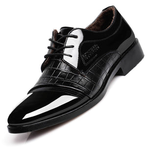 Oxford Shoes For Man-Business Formal Dress Crocodile Texture Oxford Shoes