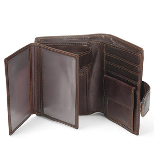 Vintage Men Short Brand Wallet Leather Wallet
