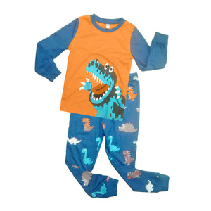Cartoon Dinosaur Pattern Cute Boy's Tops