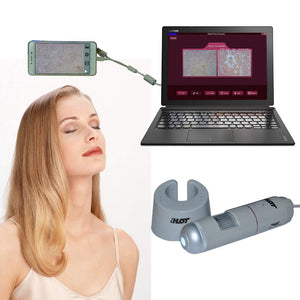 HT-B30S 5-200X HD 2.0MP Digital Microscope Acne Scalp Hair Skin Detector Analyzer Pen Magnifier With USB OTG Function