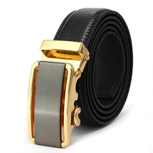 Artificial Black Leather Belt with Alloy Buckle