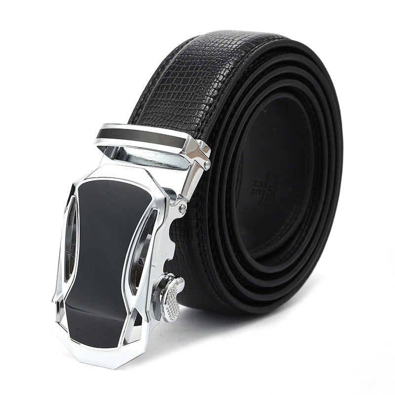 Black Band Auto Close Car Shape Buckle Belts