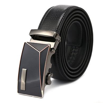 Black Band Alloy Ratchet Buckle Belts