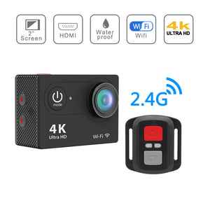 V3 4K WIFI 2 Inch LCD Screen Allwinner V3 Chipset 170 Degree 30M Waterproof Ultra HD Sports Camera