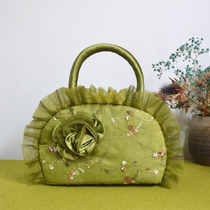 Ethnic Fashion Style Flower Embroided Shell Handbags