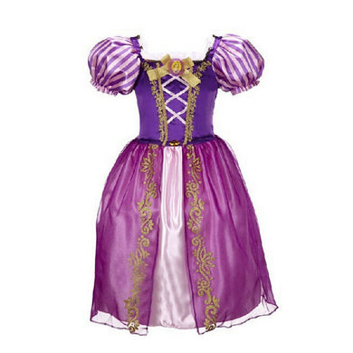 Girls Dresses Long Hair Princess Dress Cartoon Children's Costumes