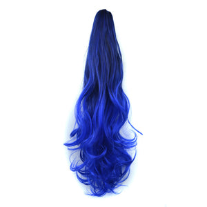 Clip-in Hair Extension Off Color Long Big Body Wave Pony Tail Hair Extension