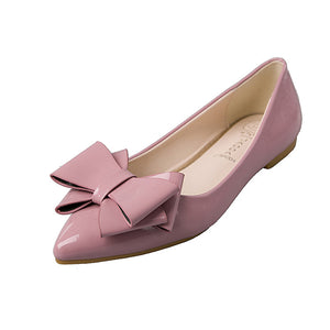 Bow Pump Shoes Pointed Toe Slip-on Shoes