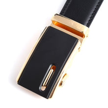 Artificial Leather Belt-Ratchet Dress Belt with Automatic Solid Buckle