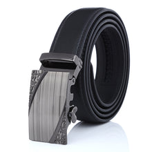 Novel Buckle Synthetic Black Leather Belt for Men