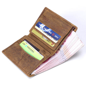 Vintage Men Wallet  Multi-Function Purse High Quality