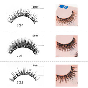 SHILINA 3D False Eyelashes Plastics and Cotton Eyelashes Multiple Choices for Women (1 pair)
