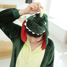 Winter Flannel Cartoon Dinosaur One Piece Home Wearing Pajama Costumes