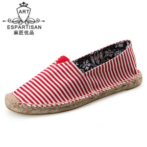 Stripes Canvas  Casual Low-cut Breathable Shoes
