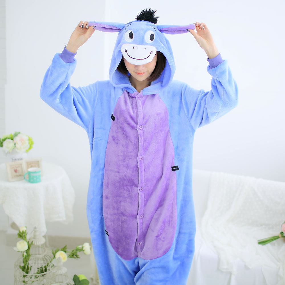 Cartoon Donkey One Piece Home Wearing Pajama Costumes