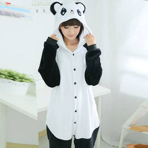 Cartoon Panda One Piece Home Wearing Pajama Costumes