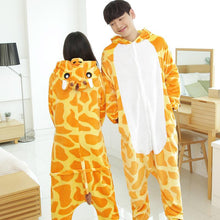 Flannel Pajamas Cartoon Animal Jumpsuits Deer Costume for Women