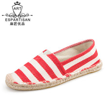 Women's Simple  Stripes Breathable Non-slip Slip-on Shoes