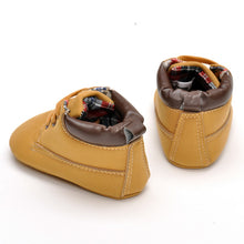 Warm Khaki PU Matte Strap Toddler Shoes 0-1-year-old Baby Boys