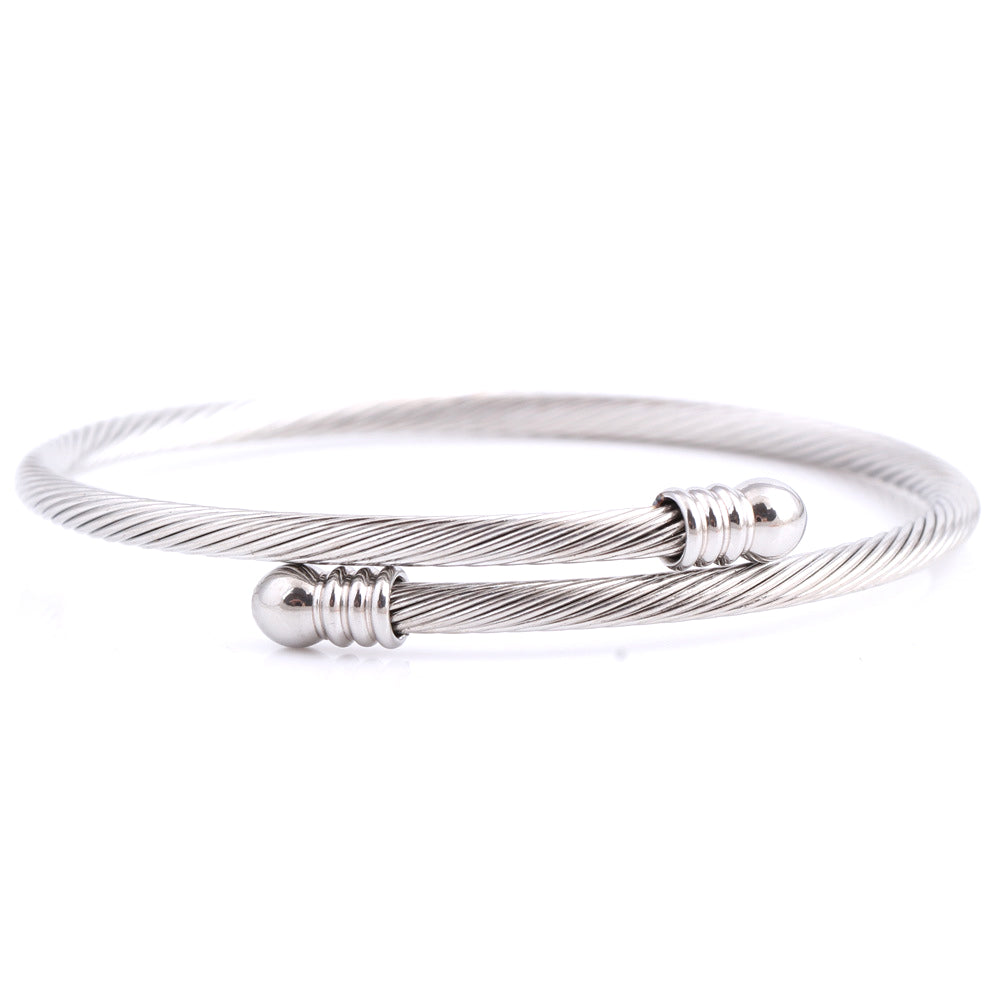Titanium Steel Threads Wire Bracelet for Women