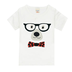 Short Sleeve O-neck T-Shirt Children Clothing Cartoon Pattern Baby T-Shirts