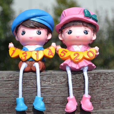 Cute A Pair of Natural Resin Long Legs Doll Presents for Children Decoe for Study Room
