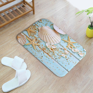 Mediterranean Style Bathroom Toilet Mats Soft and Absorbent Bath Mat